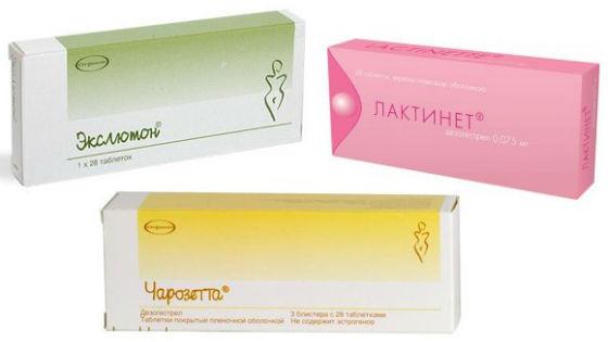 Гестагенные оральные контрацептивные таблетки