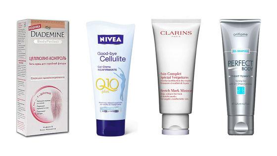 Согревающие, питательные и увлажняющие кремы для профилактики и борьбы с целлюлитными изменениями кожи