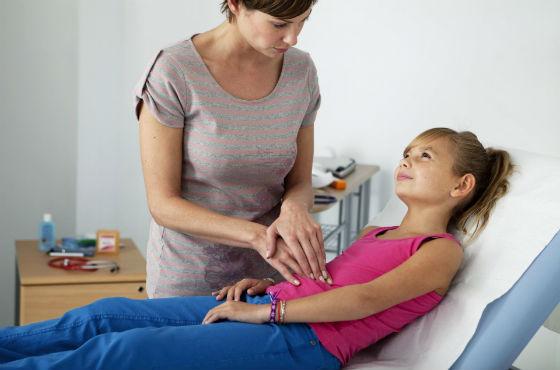 Воспаление аппендикса у девочки