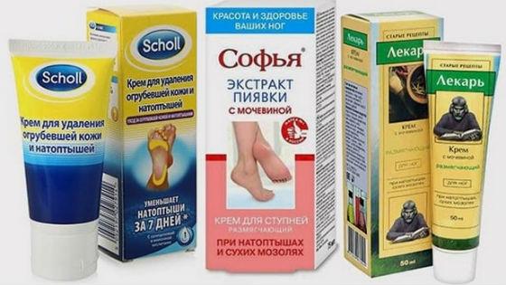 Аптечные средства против трещинок на ступнях