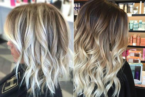 Создание эффекта выгоревших прядей у блондинок