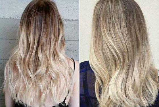 Балаяж для длинных волос