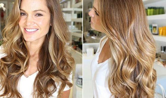 Эффект выгорания на длинных волосах