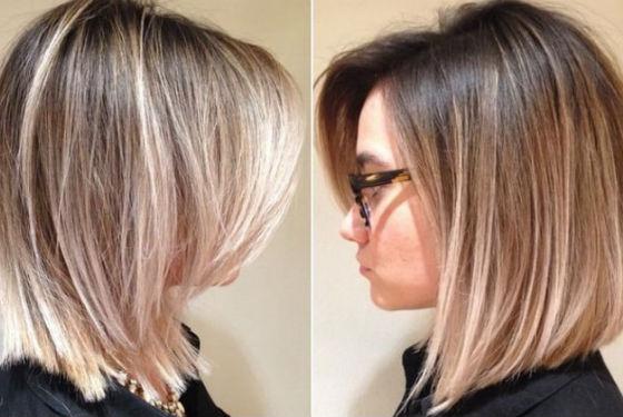 Эффект выгорания на коротких волосах