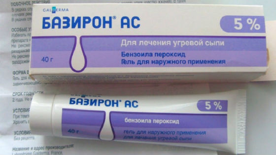 Базирон для лечения угревой сыпи и акне