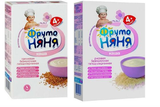 Рисовая и гречневая каши от Фрутоняни