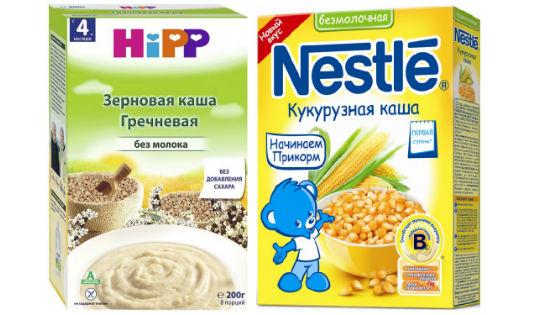 Каши Hipp и Nestle для грудничков