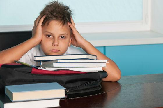 Следует избегать переутомления школьника