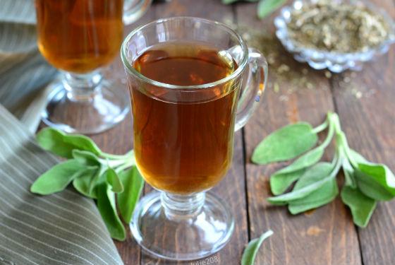 Приготовление шалфейного чая при менопаузе