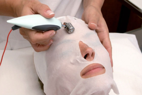 Очищение кожи током