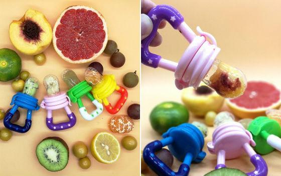В сеточку для жевания чаще всего кладут фрукты и овощи