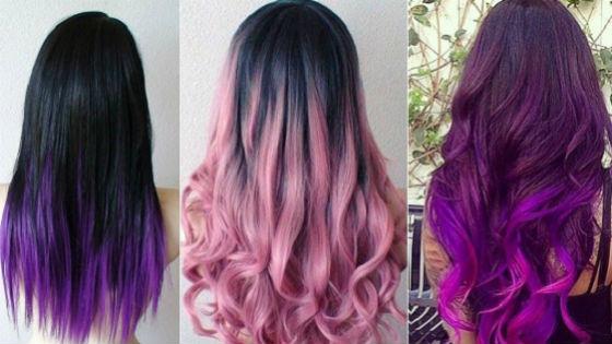 Цветное окрашивание темных волос