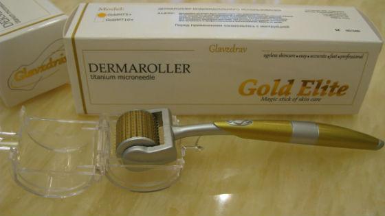 Дерматороллер для более глубокого проникновения питательных веществ в кожу