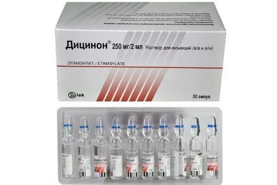 Инъекции дицинона для достижения кровоостанавливающего эффекта