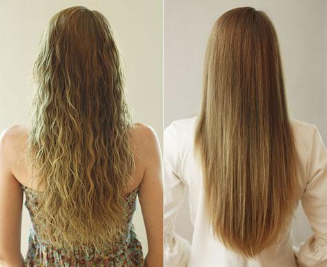 Домашнее ламинирование вьющихся волос желатином до и после