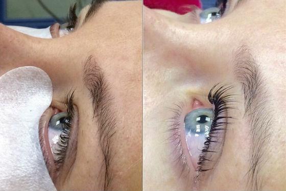 Волоски после применения ламинирующего состава и ботокса выглядят примерно одинаково