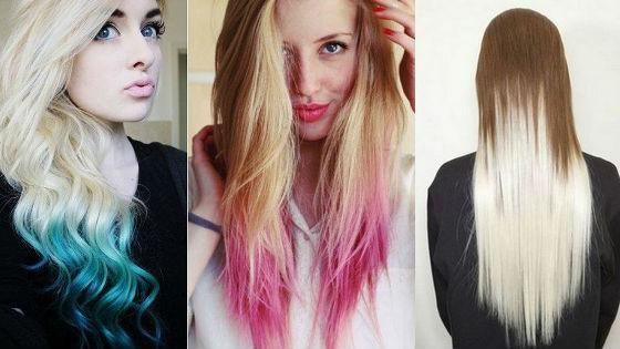 Разноцветные варианты для разных оттенков волос