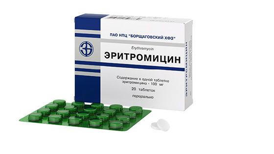 Антибиотик эритромицин для профилактики коклюша при контакте с больным
