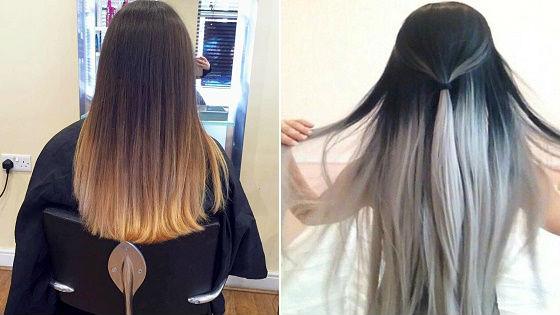 Классический вариант на темные волосы