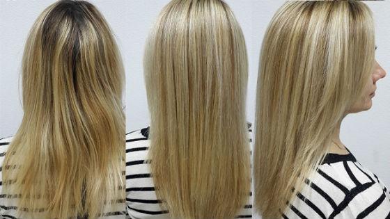 Этапы блондирования