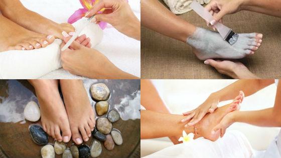 Этапы и разновидности спа-процедур на ногах
