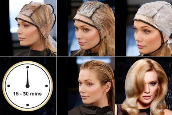 Использование шапочки при самостоятельном окрашивании