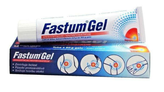 Фастум гель снимает болевые ощущения в мышцах