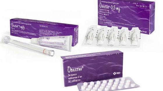 Овестин содержит синтетический гормон