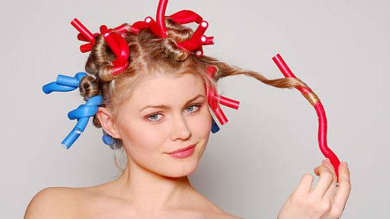 Накручивание волос при помощи папильоток