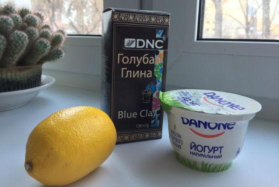 Глиняные составы с лимоном для отбеливания кожи