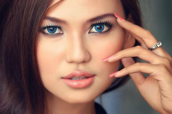 Мейк ап для голубоглазых девушек с нависшим веком