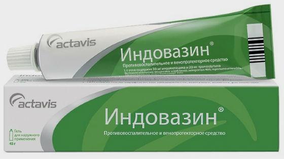 Индовазин для снятия воспаления и боли при варикозном расширении