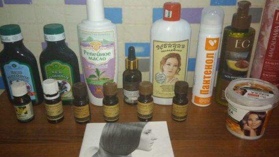 Ингредиенты для маски с декспантенолом в составе