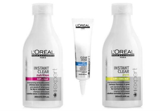 Instant Clear от L'OREAL PROFESSIONNEL для избавления от себореи кожи головы