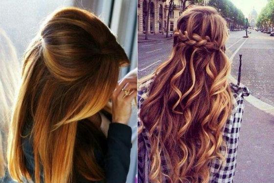 Укладка окрашенных волос