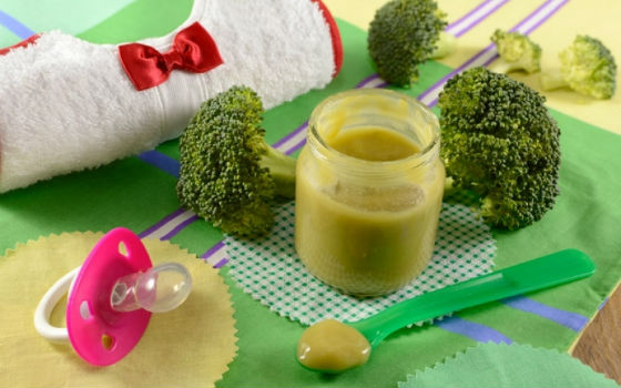 Готовое пюре из брокколи для грудничка