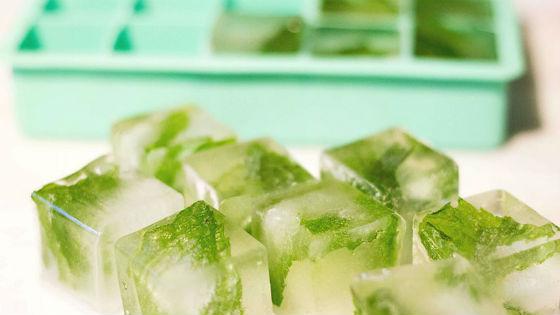 Лед из зелени петрушки для домашней криотерапии