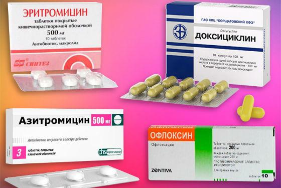 Антибиотикотерапия при воспалении цервикального канала