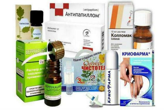 Препараты для лечения папилломатоза