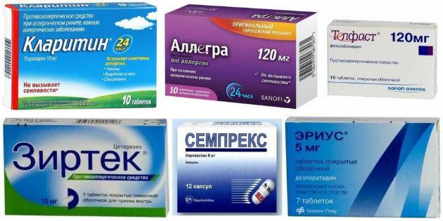 Препараты системного действия для лечения аллергии
