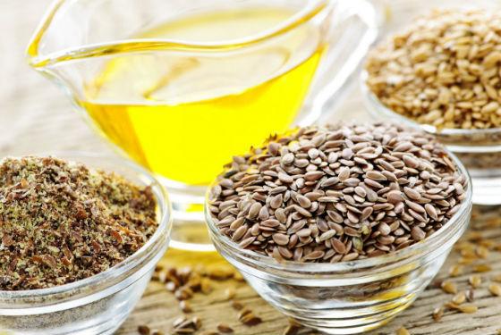 Продукты, приготовленные из льняного семени