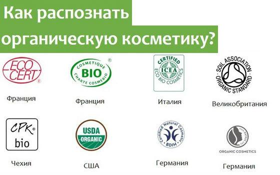 Маркировка натуральных косметических средств разных стран-производителей