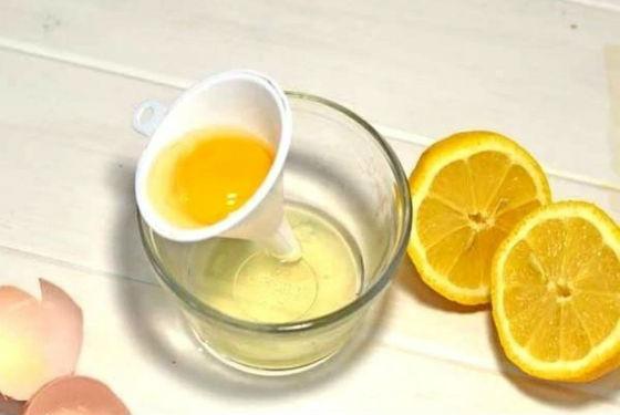 Белковая маска с лимоном для жирной кожи