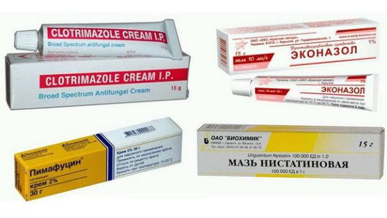 Мази при лечении кандидоза применяются для обработки наружных половых органов