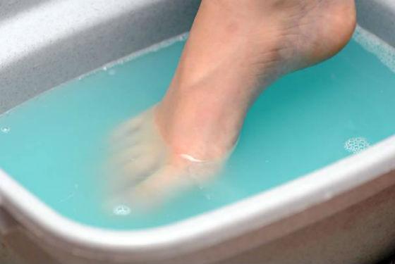Ванночки для ног с медным купоросом