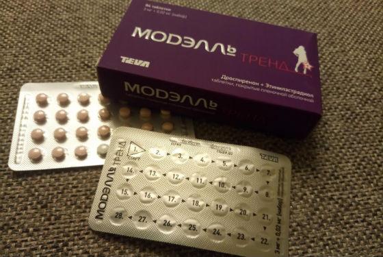 Оральные контрацептивы Модэлль