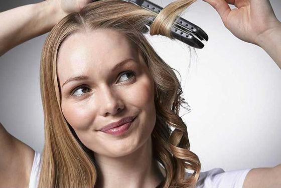 Мягкие волны с помощью выпрямителя для волос