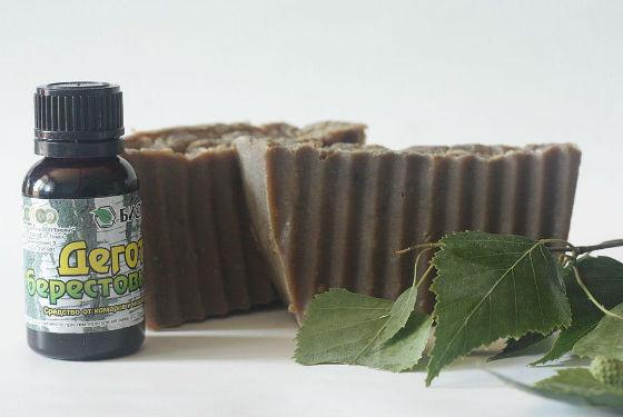 Дегтярное мыло и шампунь для лечения кожи головы
