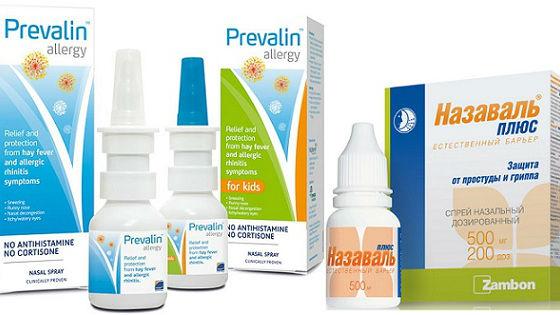Препараты для барьерной защиты слизистой носа от проникновения вирусов и аллергенов