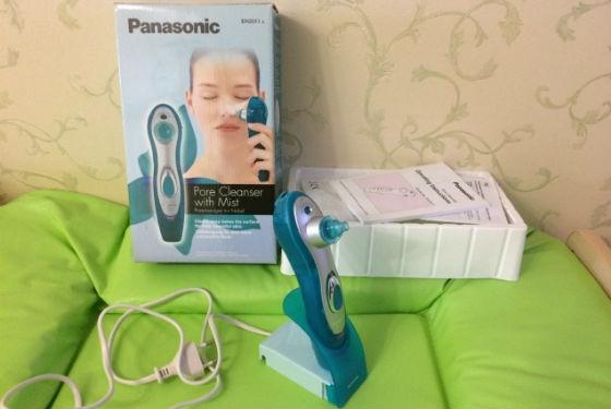 Очищение кожи при помощи аппарата Panasonic